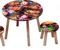 Столик круглый + 2 стульчика МАША С032, размер 600*460, OTS-B102-3К