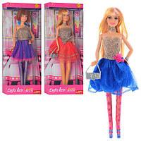 Кукла DEFA 30см, на подставке, с сумочкой, 8259