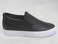 Мокасины, туфли женские на платформе 36-41 черные
