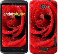 "Чехол на HTC One X+ Красная роза ""529c-69"""