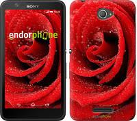"Чехол на Sony Xperia E4 Dual Красная роза ""529c-87"""