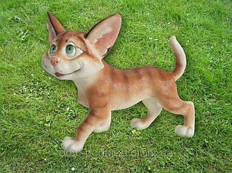 Оригинальная садовая фигура кошка Фишка полистоун недорого Харьков
