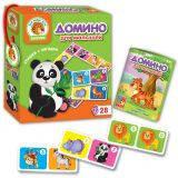 Игра детская настольная Домино Зоопарк, VT2100-02