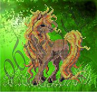 Схема для вышивки бисером Рыжегривая лошадка КМР 5039