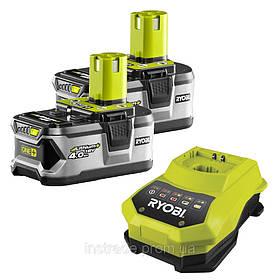 Аккумуляторы и зарядное устройство RYOBI RBC18LL40