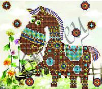 Схема для вышивки бисером Этническая лошадка КМР 5040