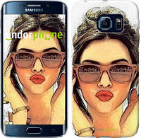 "Чехол на Samsung Galaxy S6 Edge G925F Девушка_арт ""3005c-83"""