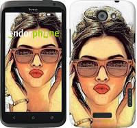 "Чехол на HTC One X Девушка_арт ""3005c-42"""