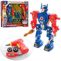 Конструктор робот,  шуруповерт, 31дет, на батарейках, 661-191