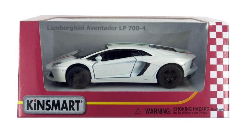Машина металлическая KINSMART Lamborghini Aventador LP 700-4 with printing, KT5355WF