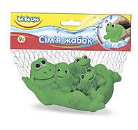 """Игрушка-пищалка для ванной """"Семья лягушек"""", ТМ BeBe lino, 57091"""