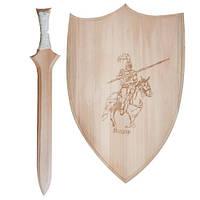 """Набор оружия """"Рыцарь"""" (щит 35 см., меч 45 см.), 172067"""