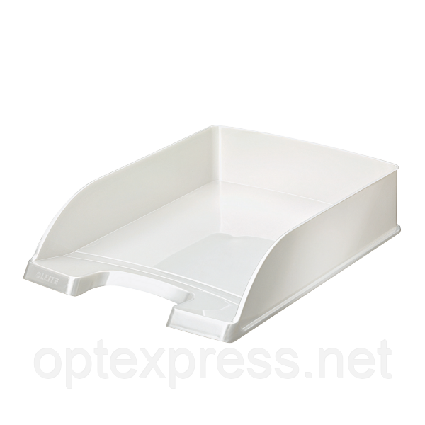Лоток горизонтальный Leitz  WOW,белый  металлик ESSELTE