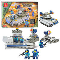 Конструктор SLUBAN спецназ, военная машина, звук, 273дет, M38-B0206