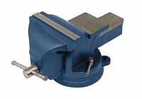 Тиски слесарные поворотные синие 100 мм Miol 36-200