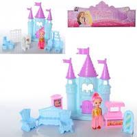 Замок принцессы, 23см, мебель, кукла 10см, 1107-08
