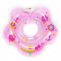 "Круг для купания младенцев BABY, ""BABY Girl"" цвет розовий с цветочным принтом, Kinderenok, 204238-026"