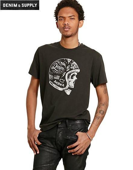 Мужская футболка Polo Ralph Lauren - Faded BLK CNVS DS