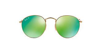 Солнцезащитные очки Ray-Ban ROUND METAL MIRROR GRADIENT COLLECTION GOLD MATTE / GREEN RB3447 53