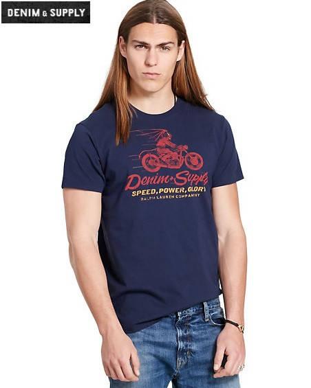Мужская футболка Polo Ralph Lauren - Classic Navy Devil Ride
