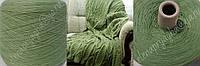 Пряжа на бобине Италия Grignasco s.p.а зеленого цвета с шелком и кашемиром .