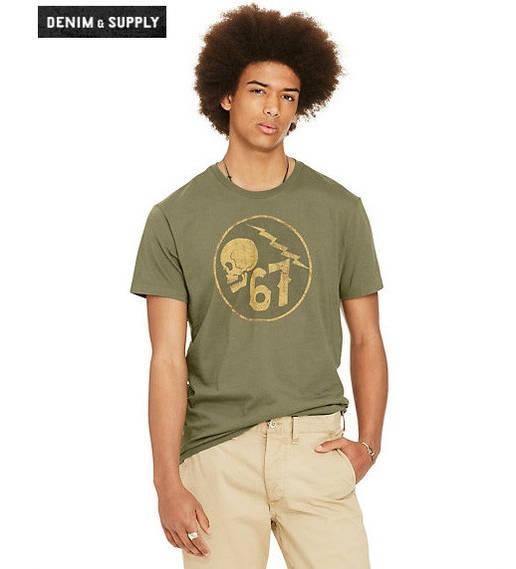 Мужская футболка Polo Ralph Lauren - Trail Mix Military (XL)