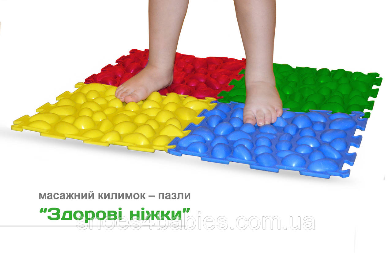 Ортопедический массажный коврик 4 пазла 25,8*25,8