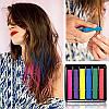 Мел для окрашивания волос 6 шт набор мелки тиара Виктория мелки цветные для волос цветные, фото 4