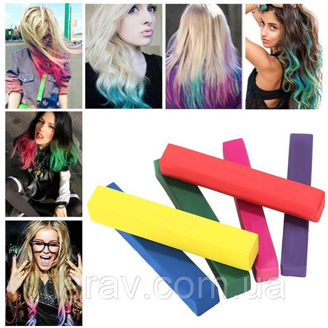 Мел для окрашивания волос 6 шт набор мелки тиара Виктория мелки цветные для волос цветные