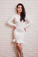 Модное молодежное платье с оборкой по низу,в расцветках 42-44.