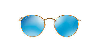 Солнцезащитные очки Ray-Ban  ROUND METAL MIRROR COLLECTION GOLD MATTE / BLUE RB3447 53