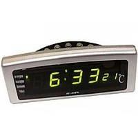 Светодиодные цифровые часы Caixing CX-818: термометр, 8 будильников, календарь, подсветка день/ночь