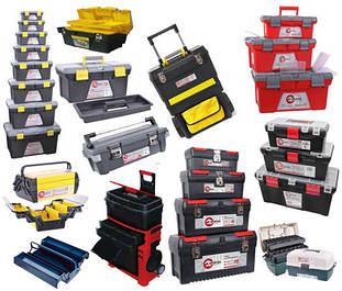 Ящики, сумки, пояса для инструментов