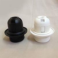 Патрон пластиковый с резьбой и упорной юбкой [ White / Black ]