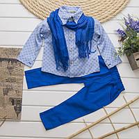 Нарядный костюм   для мальчика с рубашкой, брюками и шарфиком только размеры  3