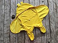 Универсальный махровый спальник-человечек 0-6 мес (конверт-кокон) ТМ MagBaby Желтый 100404