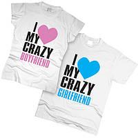 Футболки парные I Love My Crazy Boyfriend 01