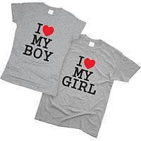 Футболки парные I Love My Boy 01