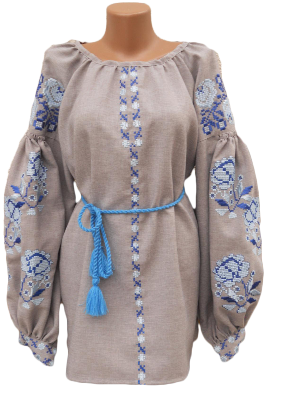 "Жіноча вишита сорочка (блузка) ""Нейталі"" (Женская вышитая рубашка (блузка) ""Нейтали"") BN-0081"