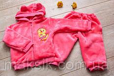Махровый костюм для малышей с ушками р.62-86