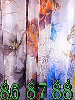 Тюль вуаль рисунок Цветы