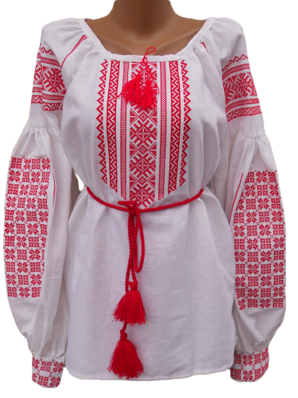 "Жіноча вишита сорочка (блузка) ""Нана"" (Женская вышитая рубашка (блузка) ""Нана"") BN-0082"