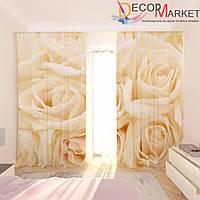 Фотошторы букет белых роз