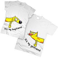 Футболки парные Кошка и Собака 01