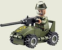 Конструктор Brick Пулеметчик на машине