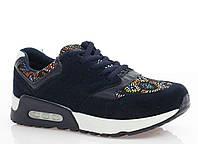 Женские кроссовки синие Замш размеры 36, 37