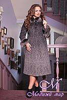 Женское теплое пальто больших размеров (50-60) арт. 613  Rumba 3 Тон 102