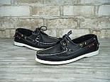 Мокасины топсайдеры Sebago Docksides кожаные черные (Реплика ААА+), фото 4