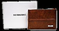 Мужской кошелек BEIDIERKE коричневого цвета из натуральной кожи QAQ-000833