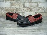Мокасины топсайдеры Sebago Docksides кожаные black/brown (Реплика ААА+), фото 4
